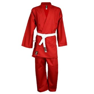 Karate Uniform : Red Children's P/C